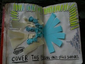 Office Supply page of Wreck This Journal