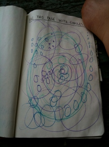 Circles in Wreck This Journal