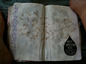 Footprint and Wine Stain in my Wreck This Journal