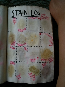 Stain Log That's All Washed Out in my Wreck This Journal