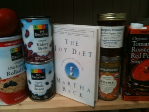The Joy Diet on my pantry shelf